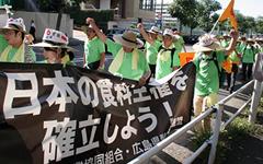 ひときわ目立つ広島県の横断幕を掲げ都内を行進